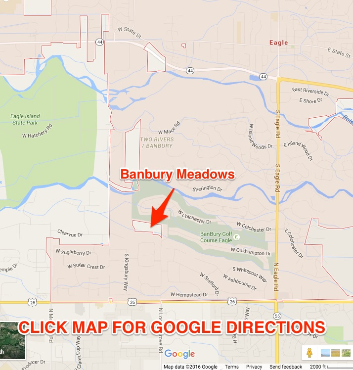 Banbury Meadows - Eagle, Idaho Google Map - Banbury Meadows | Eagle ...