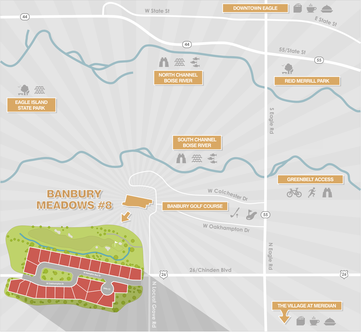 Banbury Meadows Map